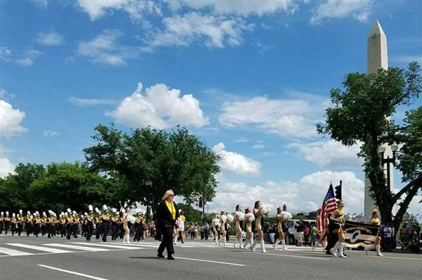 MARCHING BLACKCATS IN NATIONAL MEMORIAL DAY PARADE!