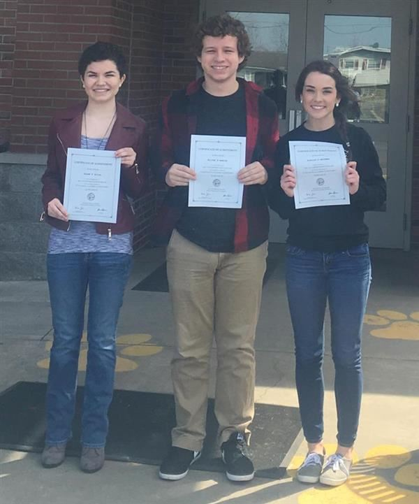 3 NAMED STATE SCHOLARS